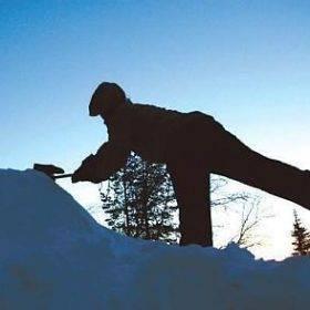 helsingin snowy day snow camping
