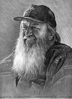 Pencil portrait of Igloo Ed