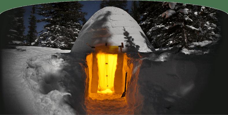 Beautiful Igloo snow cave, a winter tent alternative