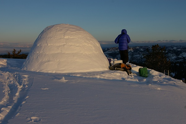 icebox igloo winter camping